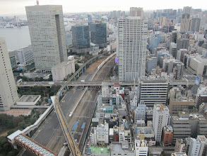 Photo: Two bullet trains passing