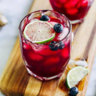 Blueberry Ginger Margaritas.