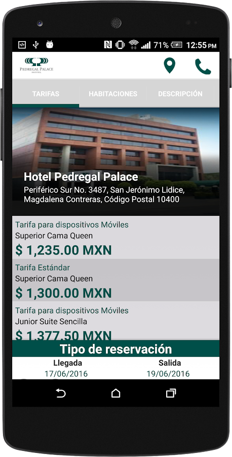 Hotel Pedregal Palace: captura de pantalla