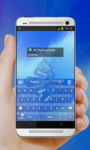 Awesome Blue GO Keyboard