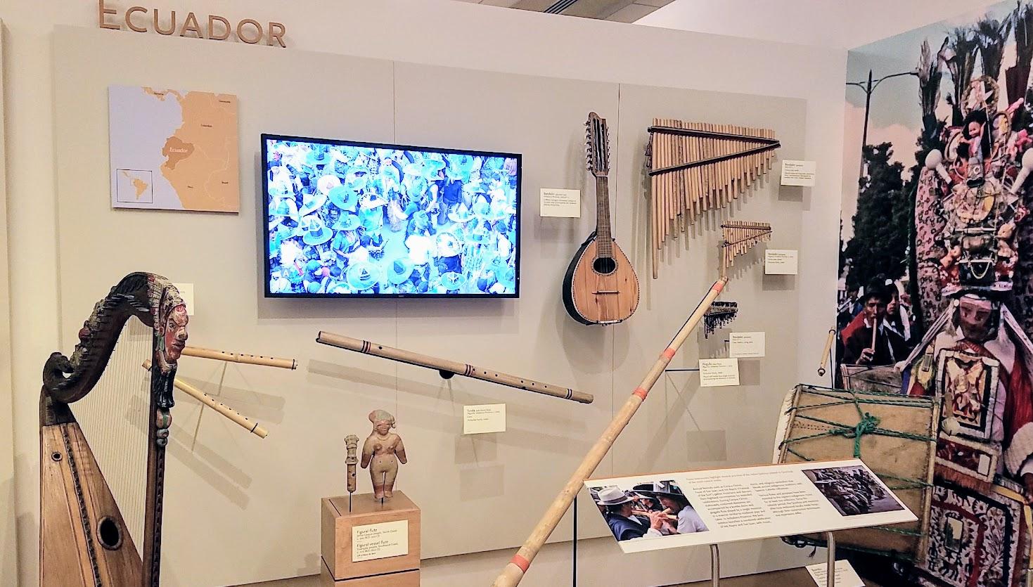 Music Instrument Museum (MIM) Geographic galleries, music instruments of Ecuador