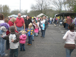 Photo: In line to take a picture w/ the Easter Bunny