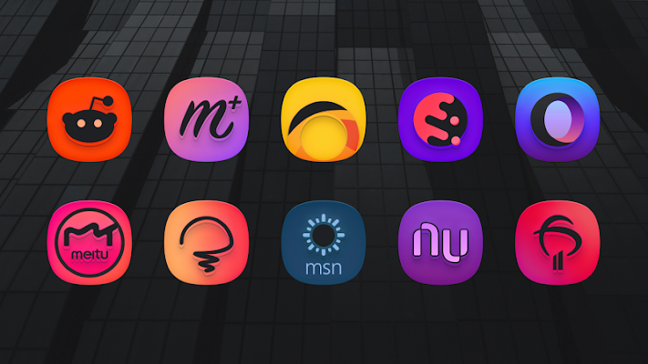SuperBlack Icon Pack Screenshot Image
