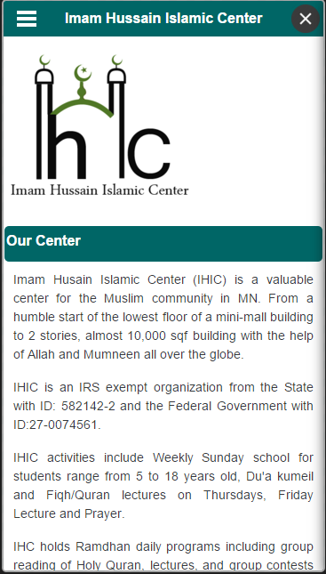 Imam Hussain Islamic Center- screenshot