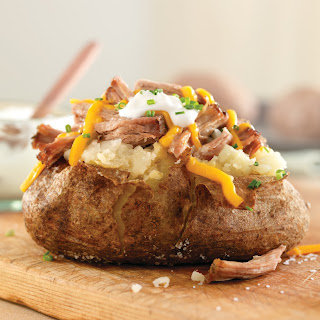 Pulled Pork Baked Potato.