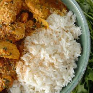 Chicken Curry With Basmati Rice.