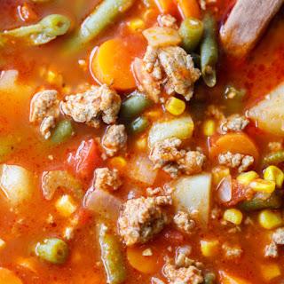 Ground Turkey Vegetable Soup Recipe