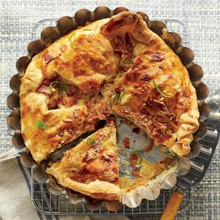Cheesy Bacon and Two Onion Tart.