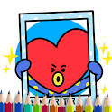 coloring Bt21 for kids icon