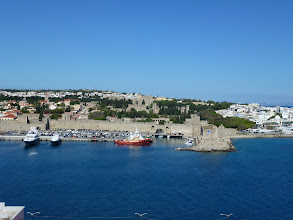 Photo: Arrived Rhodes, Greece. A good view of the city from the ship deck