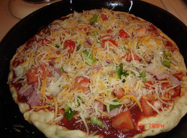 The Junkyard Pizza (crust In Bread Machine) Recipe