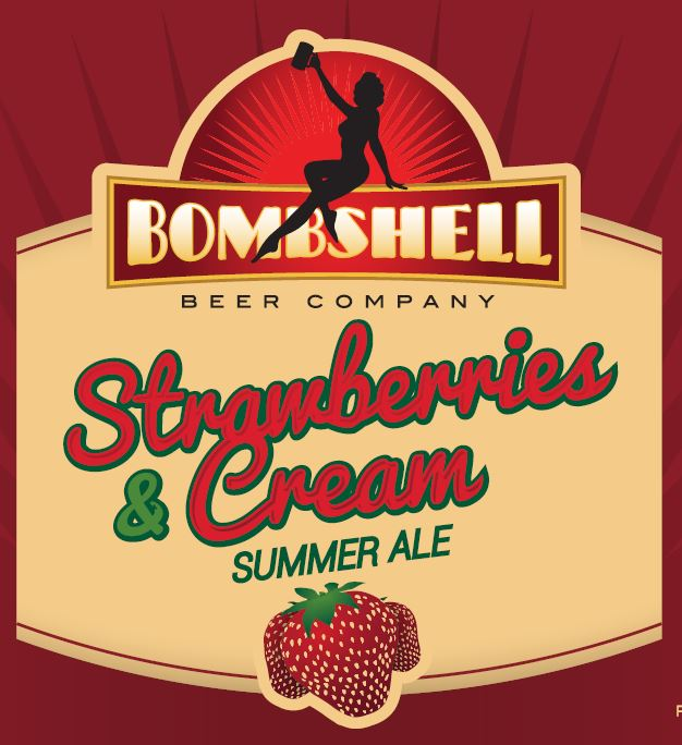 Logo of Bombshell Strawberries & Cream Summer Ale