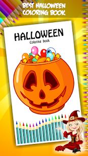 Halloween omalovánky - náhled