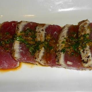 Seared Ahi Tuna with Amazing Sauce Recipe