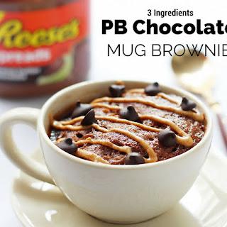 3 Ingredients Peanut Butter Chocolate Mug Brownie