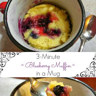 3-Minute Single Serving Blueberry Muffin Mug