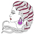 Glitter Beauty and Fashion Coloring Pages Girls icon