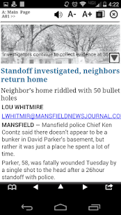 Mansfield News Journal Print- screenshot thumbnail