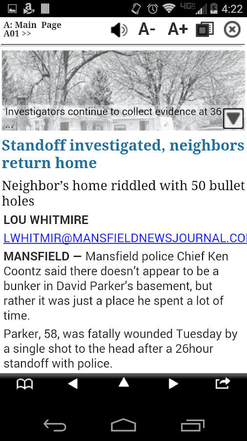 Mansfield News Journal Print- screenshot