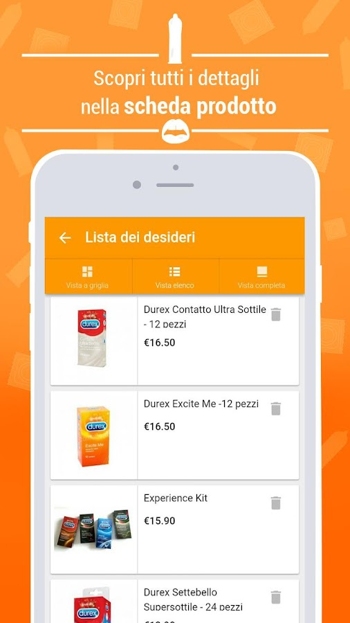 Comodo.it il primo shop di preservativi e sex toys- screenshot