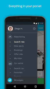 Amovens ridesharing/car rental- screenshot thumbnail