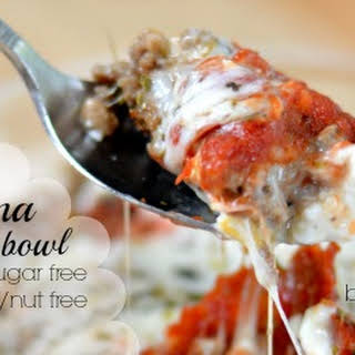 Single-Serve Lasagna in a Bowl.