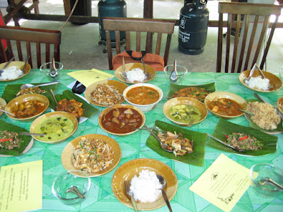 Delicious Thai dishes cooked at Krabi Cookery School