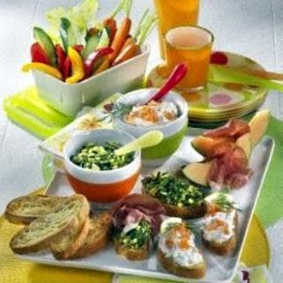 Bruschetta-Gemüse-Platte