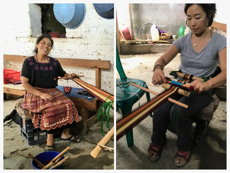 Weaving class in Santa Cruz Laguna, Atitlan.