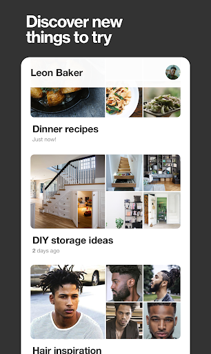 Screenshot for Pinterest in United States Play Store