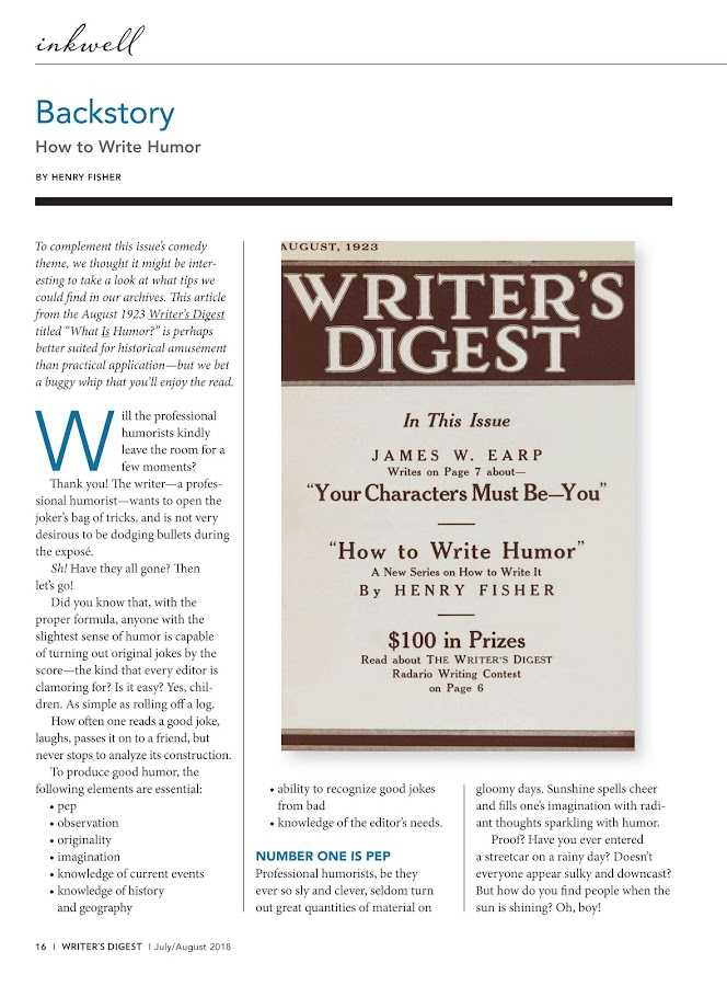 Writer's Digest- screenshot