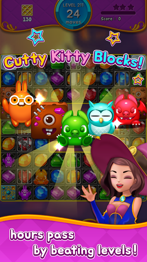 Jewel Witch - Best Funny Three Match Puzzle Game- screenshot