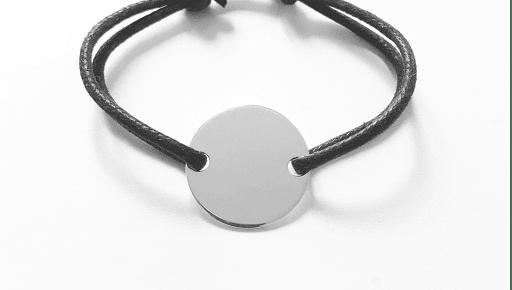 Bracelet homme tube tressé