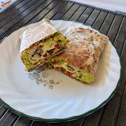 Avocado & Mushroom Burrito