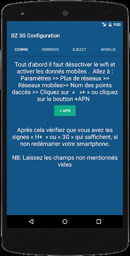 3G DZ Configuration DZ algerie