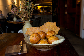 Photo: Deliciously salty brown-butter flatbread and dainty rye rolls at Aska.