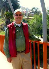 Photo: Marty on bridge over Ambato River