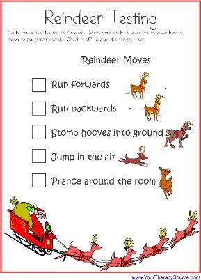 Reindeer Action | Christmas kindergarten, Christmas lesson, Preschool  christmas
