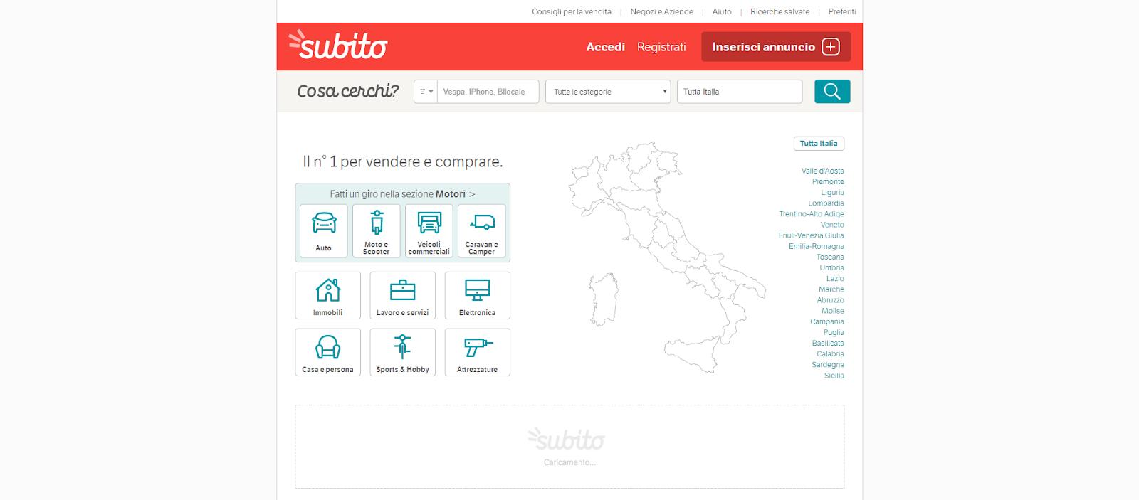 Subito Gamification landingpage