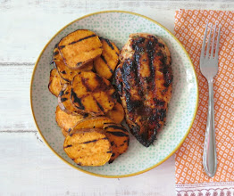 Photo: Chipotle Honey Glazed Chicken - Moist tender, juicy grilled chicken topped with a sweet and spicy honey and orange glaze.  http://www.peanutbutterandpeppers.com/2013/05/13/chipotle-honey-glazed-chicken-src/  #chicken   #barbecuerecipes   #grill   #poultry   #chipotle   #honey   #summerrecipes   #Memorialdayrecipes   #cookout