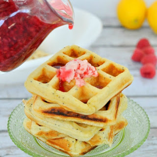 Paleo Lemon Poppyseed Waffles