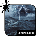 Stormy Sea Animated Keyboard + Live Wallpaper icon