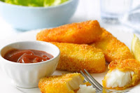 Curried Parmesan Fish Fingers