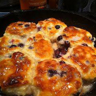 Sweet Blueberry Biscuits.