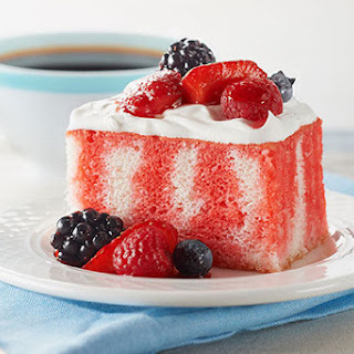 Berry Summer Poke Cake.
