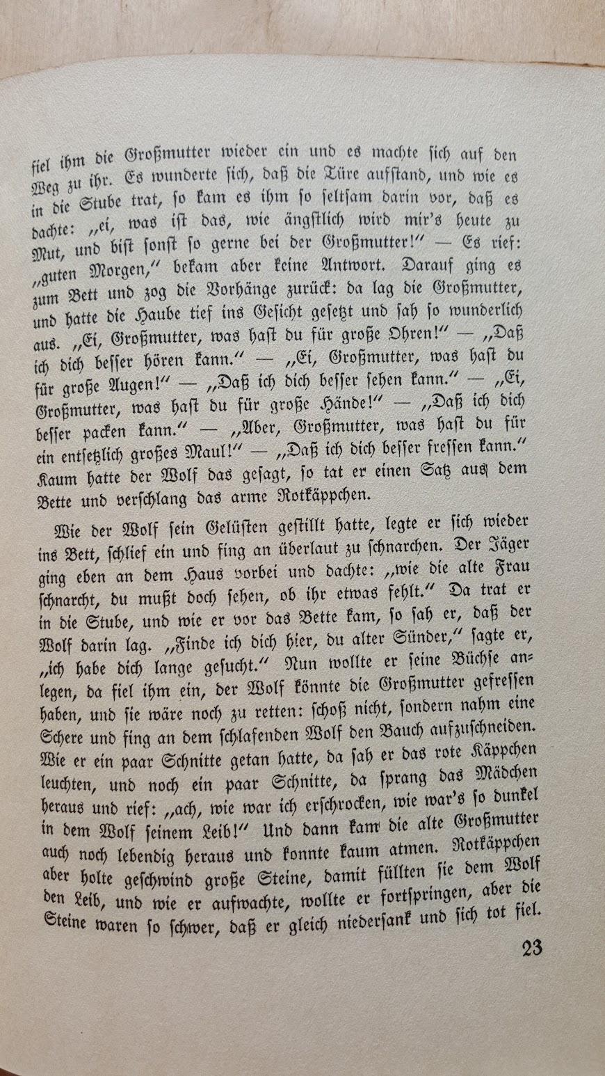 Deutsche Märchen und ihr Deutung, Ein Volksbuch aus der Nazizeit, 1934 - Rotkäppchen