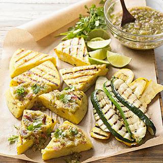 Grilled Polenta Wedges with Summer Squash