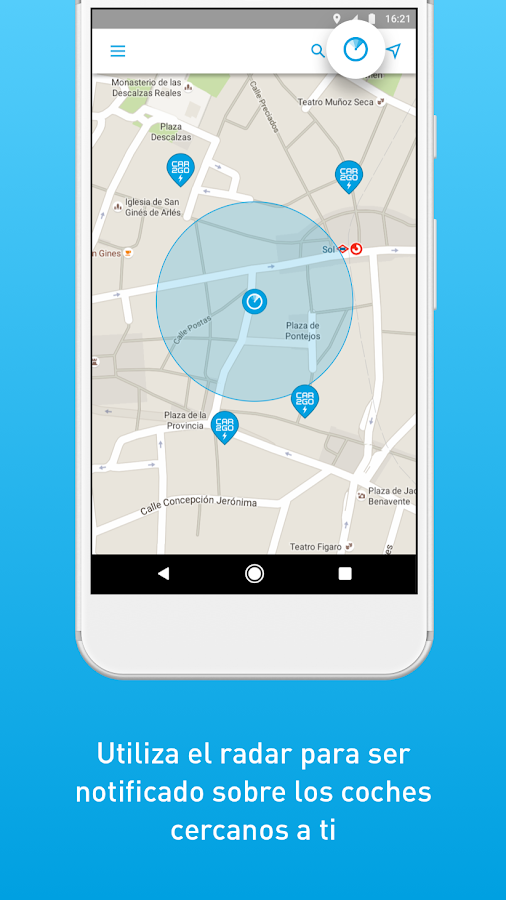 car2go: captura de pantalla