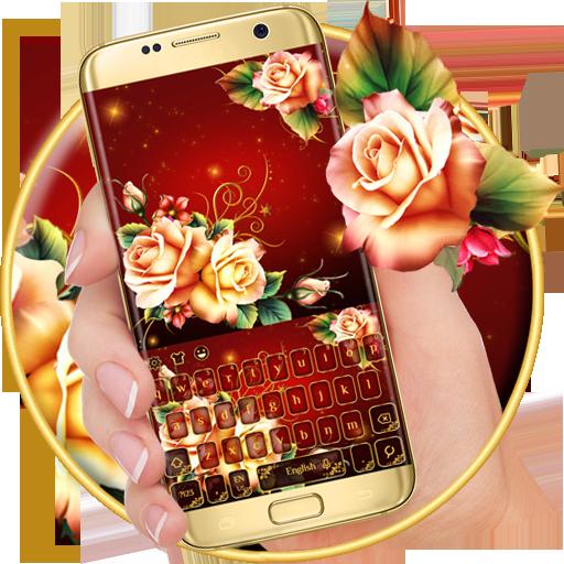 Luxury Rose Petal Keyboard Theme