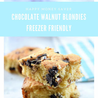 Chocolate Walnut Blondies.